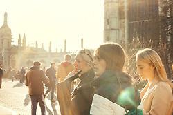 Women Tourist Visiting Cambridge, England, United Kingdom