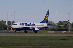 May 11, 2019 - Amsterdam, North Holland, Netherlands - Ryanair Boeing 737-8AS(WL) or Boeing 737-800 Next Generation airplane with registration EI-FTK on a takeoff phase from Polderbaan runway 36L /18R in the Dutch Capital, Amsterdam Schiphol International Airport in The Netherlands AMS / EHAM during the day. Ryanair FR RYR is an Irish low cost airline with a fleet of 439 Boeing 737 Next Gen aircraft. The budget airline operates scheduled and seasonal holiday travel flights. (Credit Image: © Nicolas Economou/NurPhoto via ZUMA Press)