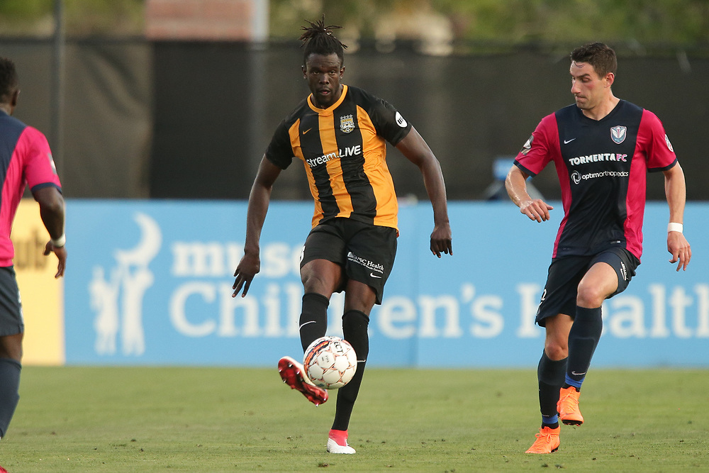 Skylar Thomas (3). <br /> Lamar Hunt US Open Cup: Tormenta FC vs. Charleston Battery in the second round at MUSC Health Stadium in Charleston, S.C. on Wednesday, May 16, 2018.<br /> Zach Bland/Charleston Battery