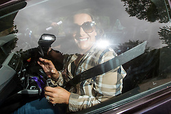 © Licensed to London News Pictures. 25/05/2016. Peckforton UK. Picture shows singer Sam Bailey arriving at Peckforton castle for the wedding of  Leicester city footballer Jamie Vardy is to mary Becky Nicholson today at Peckforton Castle in Cheshire today. Photo credit: Andrew McCaren/LNP