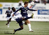 Fotball , 10. september 2011 , Tippeligaen , Eliteserien<br /> Strømsgodset - Viking<br /> <br /> Gustav  Wikheim, SIF<br />  King Osei Gyan , Viking