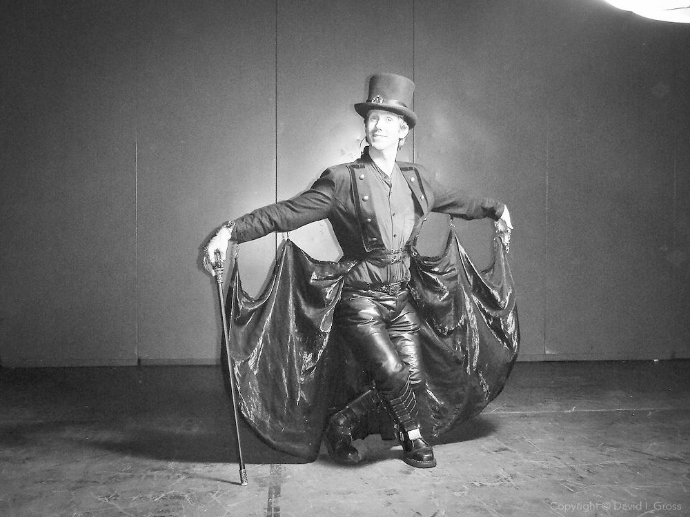 "Chris (""Claws"") of San Jose, models his vampiric costume at the WonderCon comics convention in San Francisco."