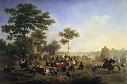 Open Air Mass in the Roman Countryside'. Nicolas Antoine Taunay (1775-1830) French painter.   Oil on canvas.