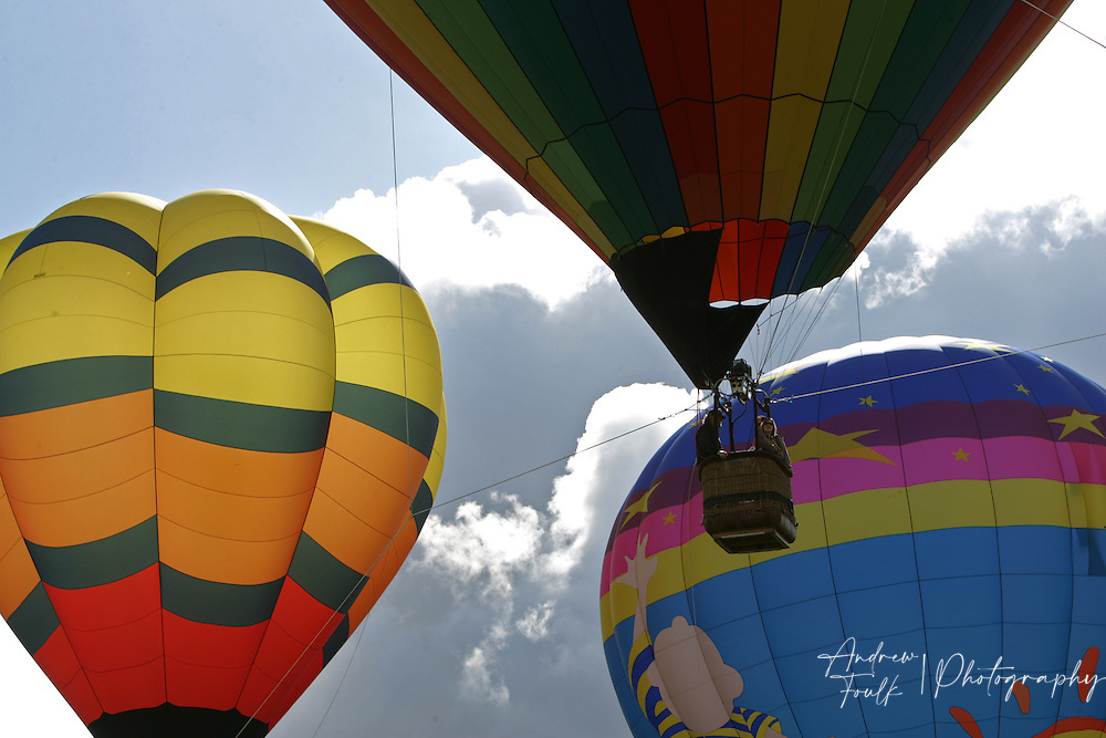 /Andrew Foulk/ For The Californian/.Temecula Balloon and Wine Festival goers got a chance to take a free ride in any of the five tethered hot air balloons Saturday morning.