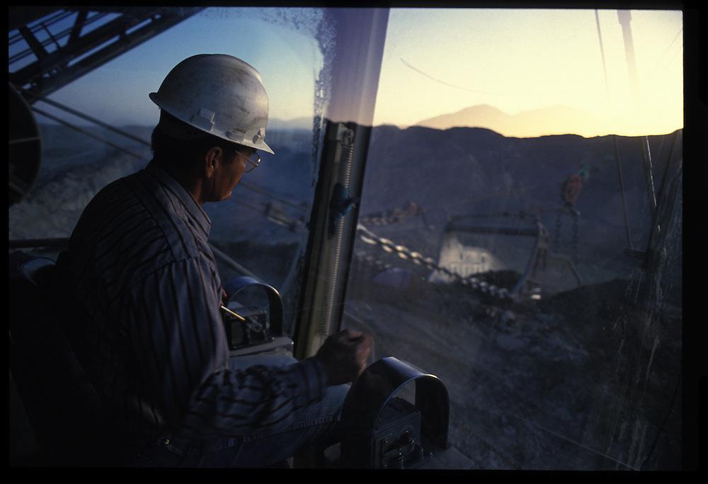 Damon Matthews - dragline operator.  Pittsberg and Midway Coal Mine.  Tse Bonito, NM  1993