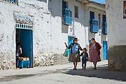 Traditional buildings in Paucartambo, Cusco Region, Peru, South America