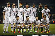 the Tottenham Hotspur team  line up for a photo ahead of k/o. UEFA Europa League round of 16, 2nd leg match, Tottenham Hotspur v Borussia Dortmund at White Hart Lane in London on Thursday 17th March 2016<br /> pic by John Patrick Fletcher, Andrew Orchard sports photography.