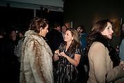 SARAH HIRIGOYEN; SHEBA RONAY, ' You're Only Young Twice' Jonathan Yeo exhibition. Lazarides. 11 Rathbone Place. London. 9 December 2011.