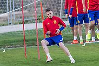 Saul iniguez during the training of Spanish national team under 21 at Ciudad del El futbol  in Madrid, Spain. March 21, 2017. (ALTERPHOTOS / Rodrigo Jimenez)