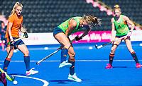 LONDEN -  Kitty Van Male (Ned)  tijdens de training in het Lee Valley Hockeystadium bij het  wereldkampioenschap hockey voor vrouwen. Het Nederlands elftal maakt zich op voor de kwartfinale .  COPYRIGHT KOEN SUYK