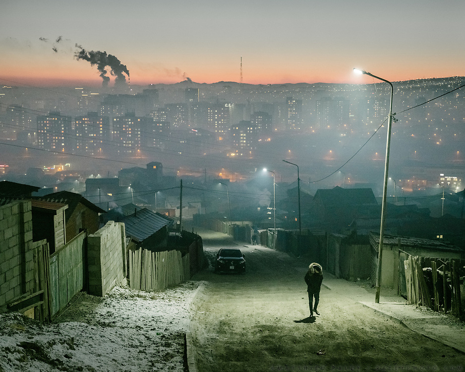 Air pollution in the Dari Ekh Ger district. One of the main reason for air pollution is the unplanned rapid urbanization of Mongolia's capital. It results in uncontrolled coal burning, used for cooking and heating.