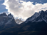 View of majestic Torres del Paine National Park, Chile.