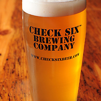 Wendy's Blonde Ale at Check Six brewing company in Southport, NC.