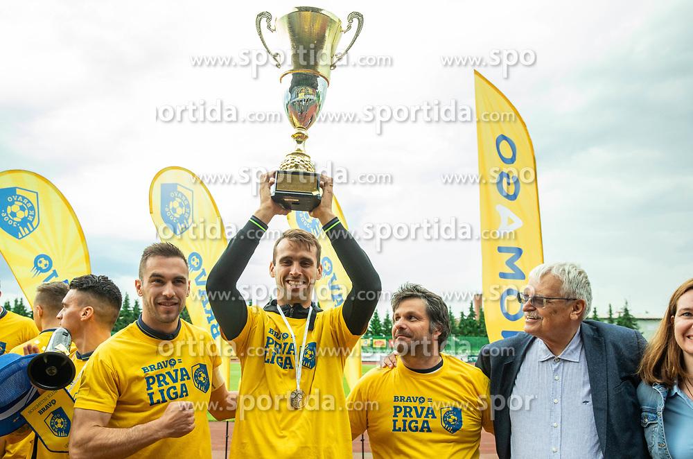 Mustafa Nukic during celebration of NK Bravo, winning team in 2nd Slovenian Football League in season 2018/19 after they qualified to Prva Liga, on May 26th, 2019, in Stadium ZAK, Ljubljana, Slovenia. Photo by Vid Ponikvar / Sportida