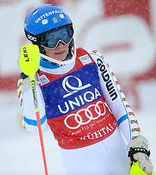 29.12.2014, Hohe Mut, Kühtai, AUT, FIS Ski Weltcup, Kühtai, Slalom, Damen, 2. Durchgang, im Bild Frida Hansdotter (SWE) // Frida Hansdotter of Sweden reacts after 2nd run of Ladies Giant Slalom of the Kuehtai FIS Ski Alpine World Cup at the Hohe Mut Course in Kuehtai, Austria on 2014/12/29. EXPA Pictures © 2014, PhotoCredit: EXPA/ Erich Spiess