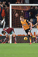Hull City midfielder Sam Clucas  scores for hull City to go 3-0 up during the Sky Bet Championship match between Hull City and Burnley at the KC Stadium, Kingston upon Hull, England on 26 December 2015. Photo by Ian Lyall.