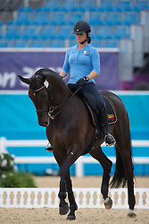 Fassaert Claudia (BEL) and her horse Donnerfee during training at Greenwich Park.<br /> Olympic Games London 2012<br /> © BELGA
