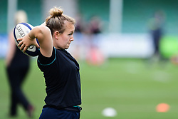 Lark Davies of Worcester Valkyries during the pre match warm up - Mandatory by-line: Craig Thomas/JMP - 30/09/2017 - RUGBY - Sixways Stadium - Worcester, England - Worcester Valkyries v Saracens Women - Tyrrells Premier 15s