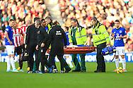 Gareth Barry of Everton is stretchered off - Sunderland vs. Everton - Barclay's Premier League - Stadium of Light - Sunderland - 09/11/2014 Pic Philip Oldham/Sportimage