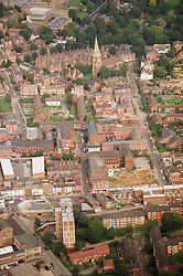 Aerial view of Radford and All Saints area in Nottingham with the Arboretum and High School in the background