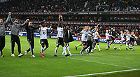 Football UEFA Champions League Q3<br /> Rosenborg - Maribor<br /> Lerkendal Stadium, Trondheim, Norway<br /> 13 August 2019<br /> <br /> <br /> Rosenborg-gutta jubler etter kampen<br /> <br /> <br /> Foto : Arve Johnsen, Digitalsport