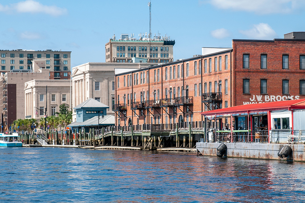 View of historic downtown during the Wilmington Water Tours in Wilmington, North Carolina on Monday, August 9, 2021. Copyright 2021 Jason Barnette