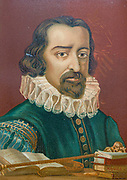 Francis Bacon [Francisco Bacon], 1st Viscount St Alban, (22 January 1561 – 9 April 1626), also known as Lord Verulam, was an English philosopher and statesman who served as Attorney General and as Lord Chancellor of England. His works are credited with developing the scientific method and remained influential through the scientific revolution From the book La ciencia y sus hombres : vidas de los sabios ilustres desde la antigüedad hasta el siglo XIX T. 2  [Science and its men: lives of the illustrious sages from antiquity to the 19th century Vol 2] By by Figuier, Louis, (1819-1894); Casabó y Pagés, Pelegrín, n. 1831 Published in Barcelona by D. Jaime Seix, editor , 1879 (Imprenta de Baseda y Giró)