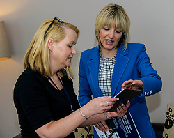 Pictured: Co-author of the toolkit Dr Melanie McCarry (right) discusse the IT application of the toolkit with Rape Crisis Helpline Co-Ordinator Angie Hawk<br /> New practical guidance for universities to tackle gender-based violence on campus was launched today (Wednesday 25 April) by Further and Higher Education Minister, Shirley-Anne Somerville,  .<br /> <br /> Guidance and training for staff, better data collection and well-publicised support information for students are some of the recommendations set out in the toolkit, which has been produced by the University of Strathclyde and funded by the Scottish Government.<br /> <br /> The toolkit, which will be adapted for colleges, takes forward the principles set out in the #emilytest campaign set up by Fiona Drouet, in memory of her daughter Emily.<br /> <br /> The Minister visited Glasgow Rape Crisis Centre and heard about the work they do to support people affected by gender-based violence and their support in developing the toolkit. Ms Somerville met Fiona Drouet and other organisations involved in the development of the toolkit to discuss the #emilytest campaign and on-going work to support students affected by gender-based violence.<br /> <br /> Ger Harley | EEm 25 April 2018