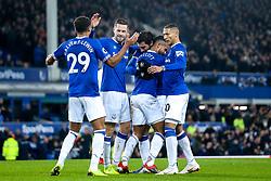 Theo Walcott of Everton celebrates with teammates after scoring a goal to make it 1-0 - Mandatory by-line: Robbie Stephenson/JMP - 23/12/2018 - FOOTBALL - Goodison Park - Liverpool, England - Everton v Tottenham Hotspur - Premier League