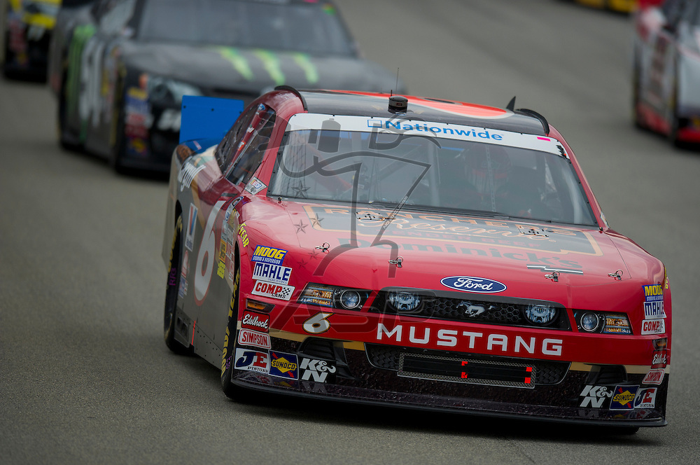 Joliet,Il - JUL 21, 2012: Ricky Stenhouse, Jr. (6) during the STP 300 at Chicagoland Speedway in Joliet, Il.