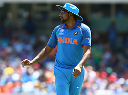 June 11, 2017 - London, United Kingdom - Ravichandran Ashwin of India.during the ICC Champions Trophy match Group B between India and South Africa at The Oval in London on June 11, 2017  (Credit Image: © Kieran Galvin/NurPhoto via ZUMA Press)