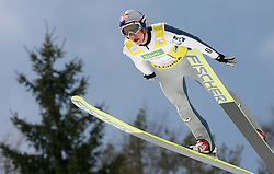 Gregor Schlierenzauer (AUT) at Flying Hill Team in 3rd day of 32nd World Cup Competition of FIS World Cup Ski Jumping Final in Planica, Slovenia, on March 21, 2009. (Photo by Vid Ponikvar / Sportida)