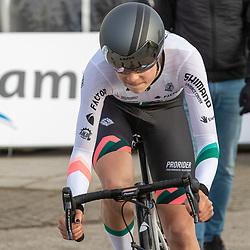 11-03-2021: Wielrennen: Healthy Ageing Tour: Lauwersoog. <br />Mischa Bredewold