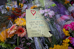 March 16, 2019 - Christchurch, New Zealand - Flowers and messages of condolence to victims of the mosque attacks are seen outside the Linwood Masjid mosque. At least 49 people dead and more than 40 people injured following attacks on two mosques in  Christchurch. The national security threat level has been increased from low to high for the first time in New Zealand's history after this attack. (Credit Image: © Sanka Vidanagama/NurPhoto via ZUMA Press)