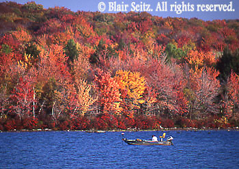 Fishing, Fall Foliage, Tobyhanna State Park, Monroe and Wayne Counties, NE PA