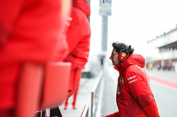 February 19, 2019 - Barcelona, Spain - Mattia Binotto, Italian team principal of Italian team Scuderia Ferrari Mission Winnow walk and watch a job of his driver during Barcelona winter test in Catalunya Circuit in Montmelo, Spain, on February 19, 2019. (Credit Image: © Andrea Diodato/NurPhoto via ZUMA Press)