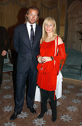 CHRISTOPHER GETTY and MARGARITA WENNBERG at a dinner hosted by Krug champagne at Claridge's, Brooke Street, London on 14th February 2006.<br /><br />NON EXCLUSIVE - WORLD RIGHTS