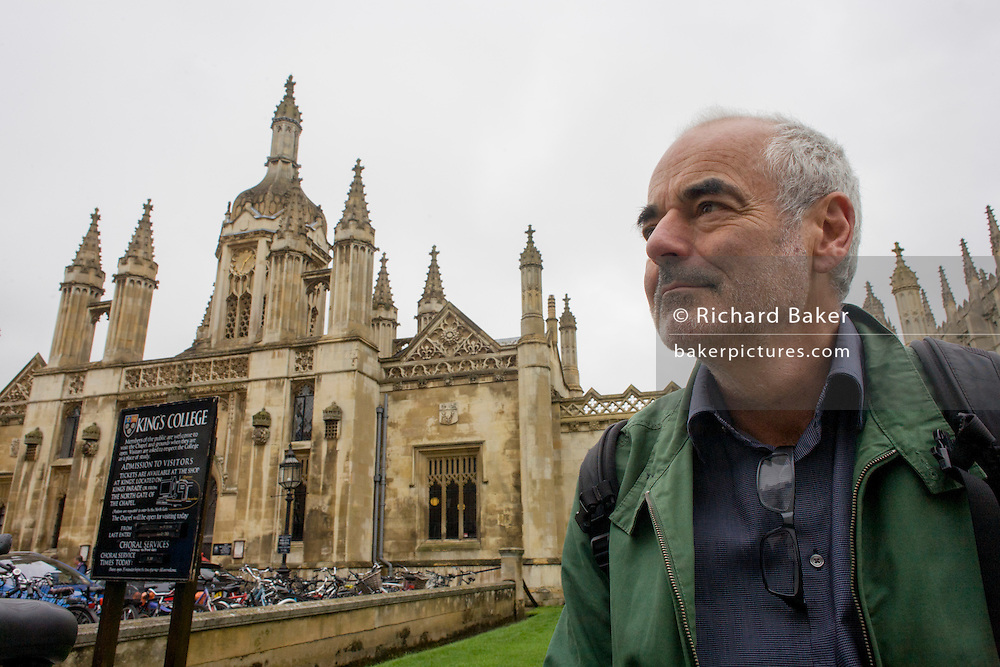 Mathematician and Risk guru, Professor David Spiegelhalter at the Centre for Mathematical Sciences outside Kings College, Cambridge.