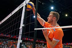 14-09-2019 NED: EC Volleyball 2019 Netherlands - Ukraine, Rotterdam<br /> First round group D - Netherlands win 3-0 / Gijs Jorna #7 of Netherlands