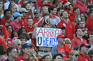 Ole Miss fans dress as pirates at Vaught-Hemingway Stadium at Ole Miss in Oxford, Miss. on Saturday, September 26, 2015. (AP Photo/Oxford Eagle, Bruce Newman)