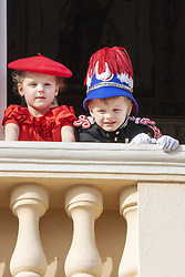November 19, 2019, Monaco, Monaco: 19-11-2019 Monte Carlo Prince Jacques, Princess Gabriella of Monaco during the Monaco national day celebrations in Monaco. (Credit Image: © face to face via ZUMA Press)