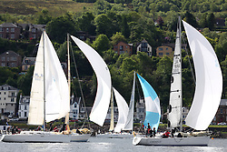 The Silvers Marine Scottish Series 2014, organised by the  Clyde Cruising Club,  celebrates it's 40th anniversary.<br /> Day 1 Class 2 - with IRL1666, Carmen II, Jeffrey/Scutt, CCC/HSC, First 36.7 and IRL1668, Animal, D&K Aitken, CCC/RNCYC, First 36.7<br /> <br /> Racing on Loch Fyne from 23rd-26th May 2014<br /> <br /> Credit : Marc Turner / PFM