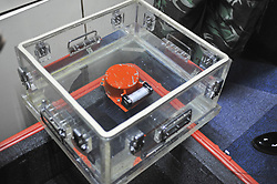 Nov. 1, 2018 - Jakarta, Indonesia - The black box flight recorder of the Lion Air plane that went down in waters off West Java province of Indonesia at Tanjung Pakis offshore in Karawang, West Java Province, Indonesia. The black box was retrieved by a diver on Thursday, a transport ministry senior official said.  (Credit Image: © Zulkarnain/Xinhua via ZUMA Wire)