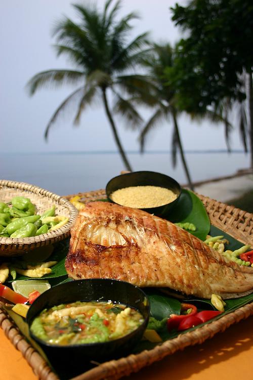 Manaus_AM, Brasil.<br /> <br /> Prato tipico da Amazonia: Costela de Tambaqui com o Rio Negro ao fundo em Manaus no estado do Amazonas.<br /> <br /> A tipical Amazon food: Tambaqui fish with Negro River in the background in Manaus in Amazonas state.<br /> <br /> Foto: JOAO MARCOS ROSA / NITRO