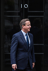 © Licensed to London News Pictures. 15/09/2015. London, UK. Prime Minister David Cameron greets Polish President Andrzej Duda outside Number 10 Downing Street.  Photo credit : James Gourley/LNP