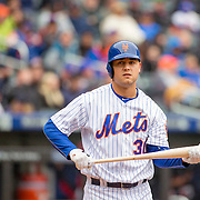 NEW YORK, NEW YORK - MAY 04:  Michael Conforto #30 of the New York Mets batting during the Atlanta Braves Vs New York Mets MLB regular season game at Citi Field on May 04, 2016 in New York City. (Photo by Tim Clayton/Corbis via Getty Images)