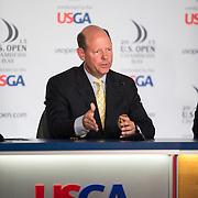 USGA's Mike Davis addresses the media at the 2015 US Open.