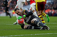 Goalkeeper David Ospina of Arsenal in action. The Emirates FA cup, 4th round match, Arsenal v Burnley at the Emirates Stadium in London on Saturday 30th January 2016.<br /> pic by John Patrick Fletcher, Andrew Orchard sports photography.