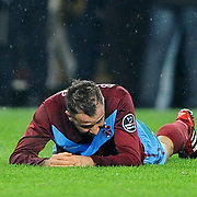 Trabzonspor's Remzi Giray Kacar during their Turkish superleague soccer derby match Fenerbahce between Trabzonspor at the Sukru Saracaoglu stadium in Istanbul Turkey on Sunday 18 December 2011. Photo by TURKPIX
