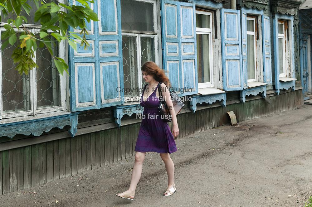Russie, Sibérie de l'Est, Oblast d'Irkoutsk, centre vieille-ville d'Irkoutsk, classé à titre indicatif au Patrimoine mondial de l'humanité par l'Unesco// Russia, East Siberia, Oblast of Irkutsk, old downtown city of Irkutsk, at the World Heritage by Unesco